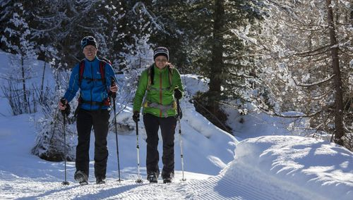 beautiful winter hiking trails already start from our campsite