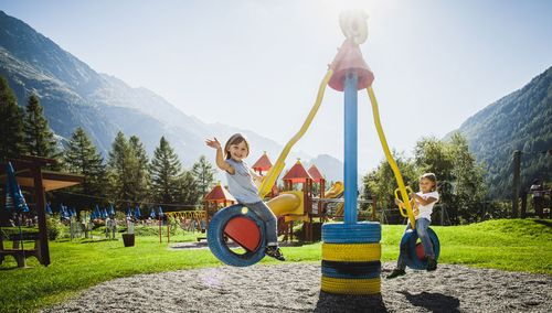 the play & adventure world close to our campsite, reachable within a few minutes